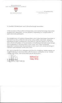 Dr. Schaden's Letter